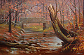 virginia rain by Tom Heflin Oil ~ 20 x 30