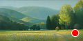 near cherokee, smoky mountains by Tom Heflin Oil ~ 24 x 48