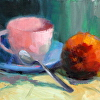 Pink Teacup and Apple