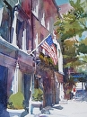 New York Morning by Kristi Grussendorf Watercolor ~ 13 x 10