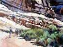 Southern Desert Hike by Kristi Grussendorf Watercolor ~ 21 x 29
