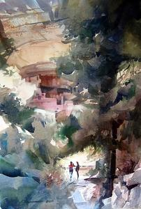 Watercolor / Landscape, Figurative