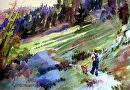 Hike #5 by Kristi Grussendorf Watercolor ~ 7 x 10