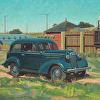 '36 Dark Blue Chevy_24x36_oil_Jeannie Paty_BG