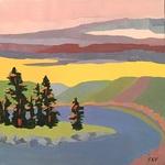 James K. Vincent - Twelve Squared Holiday Art Show - Terakedis Fine Art