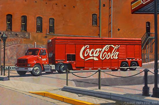 Red Coca Cola Truck - Oil