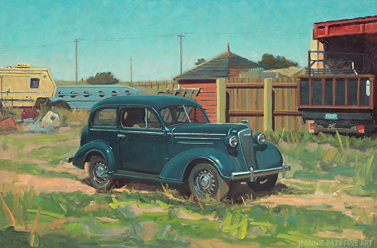 '36 Dark Blue Chevy - Oil