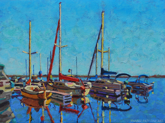 Sailboats by Jeannie Paty  ~ 12 x 9