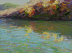 October Riverbank 9 X 12 copy by Depot Gallery Oil ~ 9 x 12