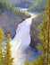Upper Falls, Yellowstone, 14 X 11, copy by Depot Gallery Oil ~ 14 x 11