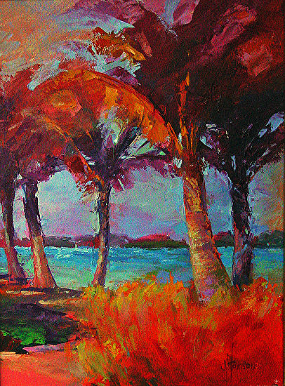 Bird Key Beach - Oil