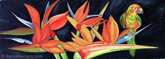 Bird in Bird - Watercolor