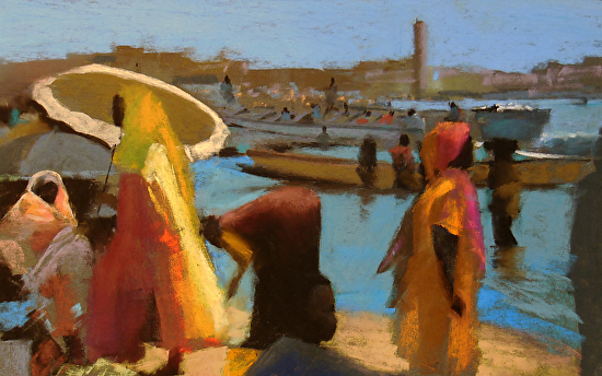 Fishing Beach, Senegal - Pastel
