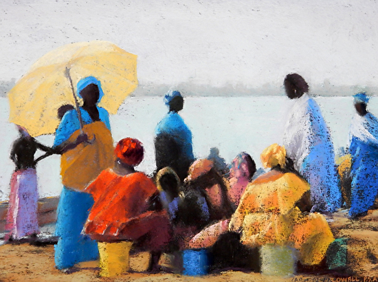 Waiting for Fish - Pastel