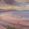 Sunset on Nantasket by Dianne Miller - Oil