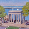 Plymouth Rock Monument by Dianne Miller - Oil