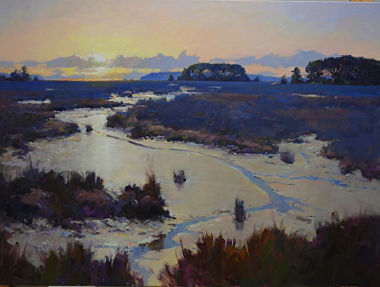 Winter Marsh - Oil