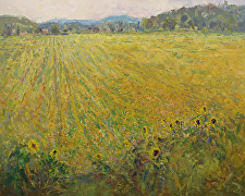 Sunflower Maze by Ramona Dooley Oil ~ 24 x 30
