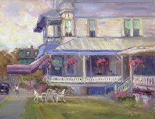 A Victorian Inn by Ramona Dooley Oil ~ 11 x 14