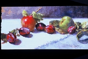 Wild Plums by Carol Roberts Oil ~ 8 x 16