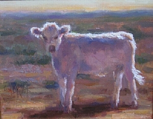 New Mexico Sunset by Carol Roberts Oil ~ 10 x 8