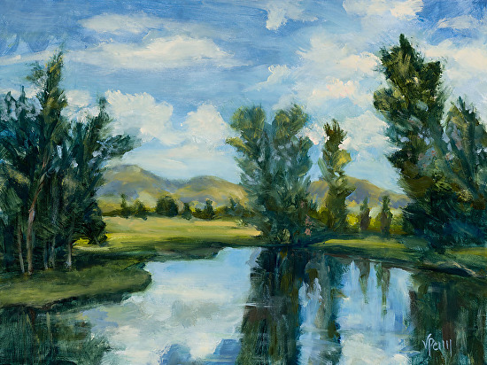 Wyoming Reflections - Oil