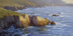 Towards Big Sur by Kathleen Dunphy Oil ~ 15 x 30