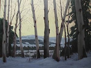 Through The Aspens by Kathleen Dunphy Oil ~ 36 x 48