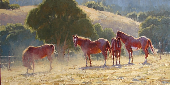 Stirred Up by Kathleen Dunphy Oil ~ 18 x 36
