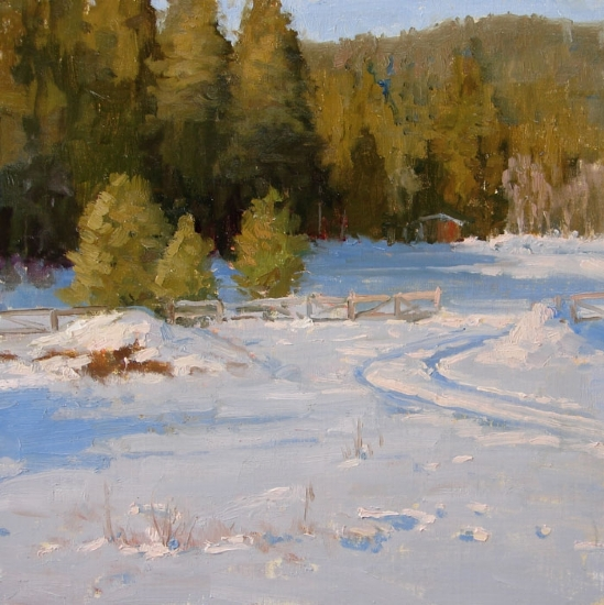 Just a Dusting by Kathleen Dunphy Oil ~ 12 x 12