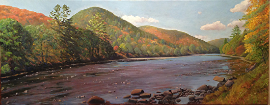 The Sacandaga at Hope - Oil