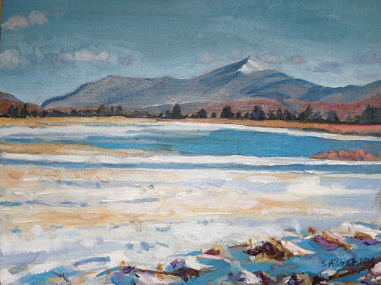 Whiteface from the Hobart Rd, Gabriels - Oil