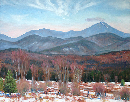 Whiteface: Warm Day in January,  1/14/15 - Oil