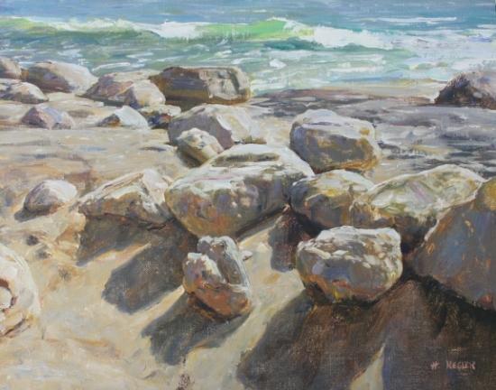 Beach Rocks - Oil