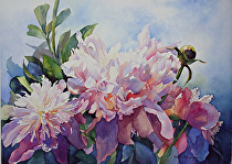 "Radiance by Yvonne Hemingway Watercolor ~ 16"" x 21"""