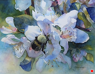"""Signs of Spring by Yvonne Hemingway Watercolor ~ 26"""" x 22"""""""