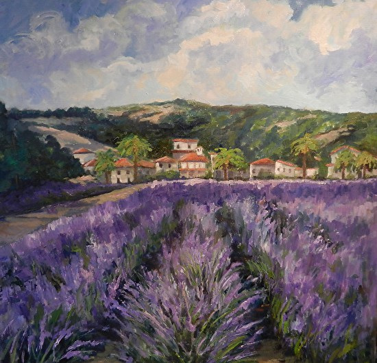 "Lavender At ""Ceago Del Lago"" Winery - Oil"