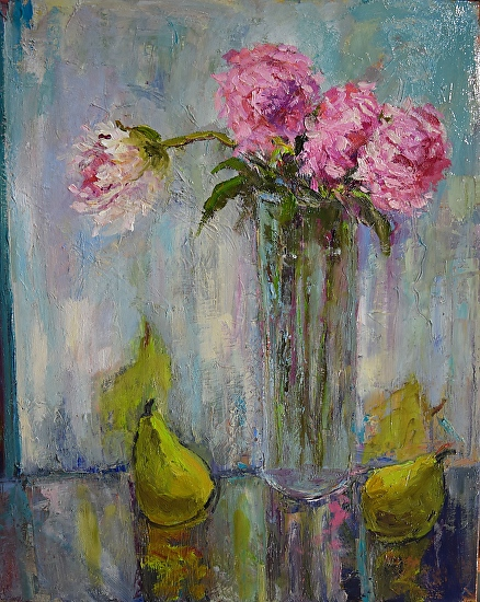 Peonies and pears - Oil