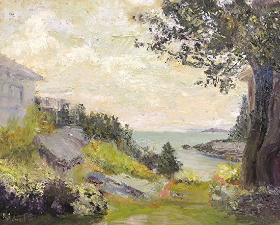 Summer Morning West Point - Oil