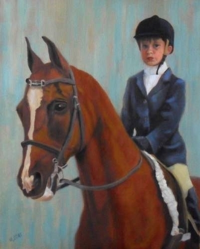 "Ready to Show by Mary Opat Oil ~ 20"" x 16"""
