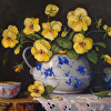 Pansies with Chinese Bowl