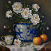 Tea Cup with Peonies