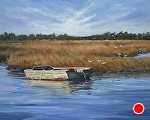 Waiting on the Tide by Paula B. Holtzclaw Oil ~ 24 x 30