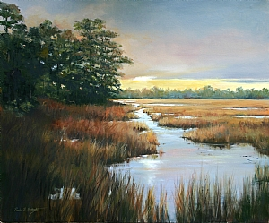Marsh Repose by Paula B. Holtzclaw Oil ~ 20 x 24