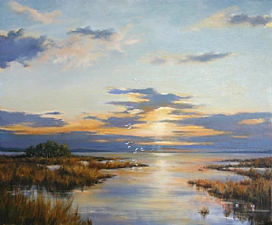 Evening Tide by Paula B. Holtzclaw Oil ~ 20 x 24