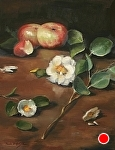 Apples and Camellias by Paula B. Holtzclaw Oil ~ 14 x 11