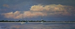 Carolina Harbor by Paula B. Holtzclaw Oil ~ 12 x 30