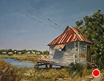 Pawleys Island Yacht Club by Paula B. Holtzclaw Oil ~ 11 x 14
