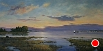 Sunset Sail by Paula B. Holtzclaw Oil ~ 24 x 48