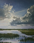 Chance of Showers by Paula B. Holtzclaw Oil ~ 30 x 24